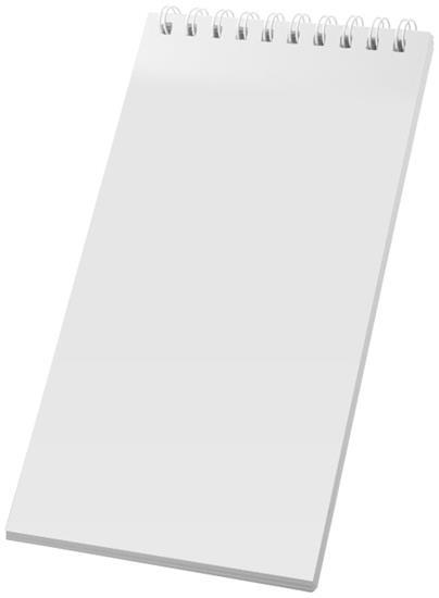Anteckningsblock Desk-Mate® wire-o 1/3 A4 med tryck Vit