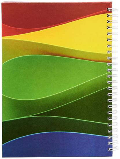 Wire-o A5 anteckningsbok med hårt omslag med tryck Vit