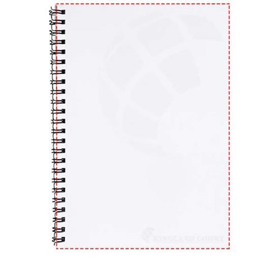 Anteckningsbok Desk-Mate® A4 med tryck Vit/Svart