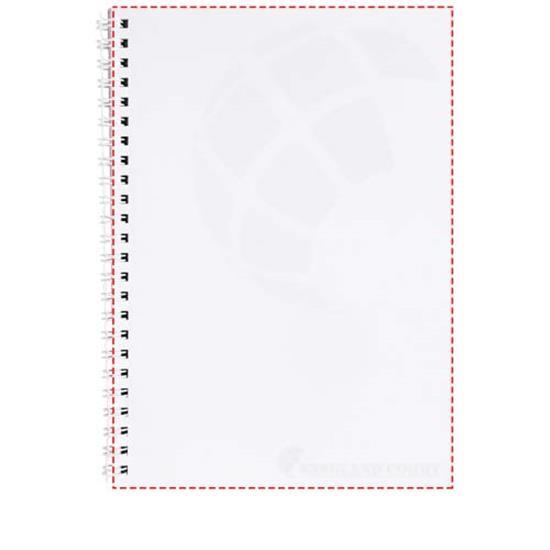 Anteckningsbok Desk-Mate® A5 med syntetiskt omslag med tryck Vit
