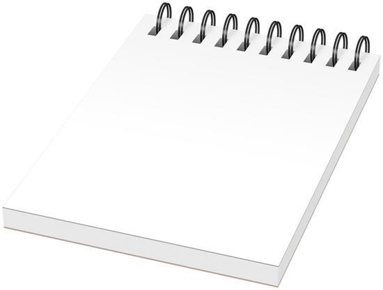 Anteckningsblock Desk-Mate® A6 med omslag med tryck Vit/Svart