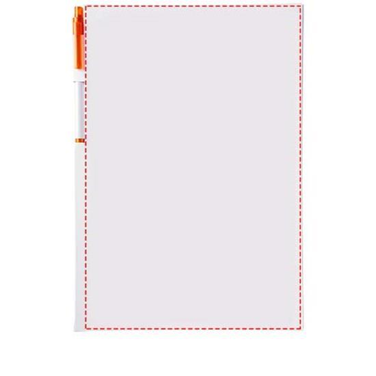Anteckningsblock Essential A4 med penna med tryck Vit/Orange