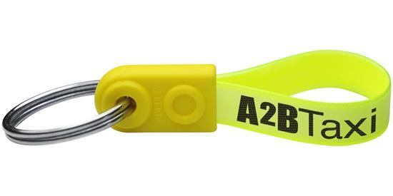 AD-Loop® Mini nyckelring med tryck Gul