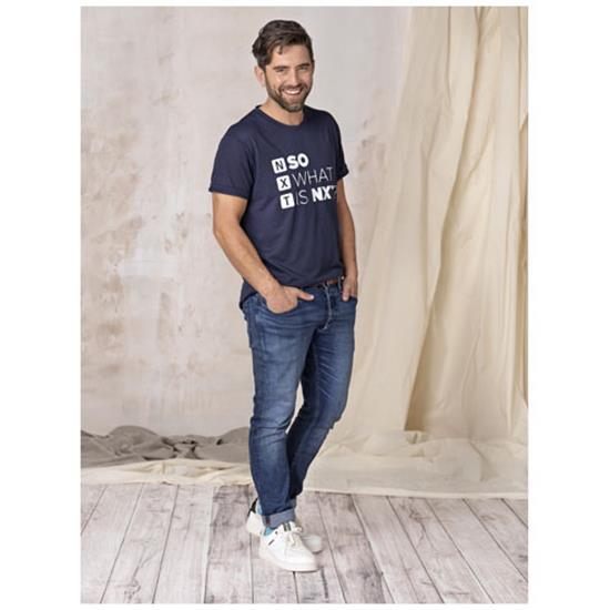 T-shirt Jade återvunnen GRS med tryck Marinblå