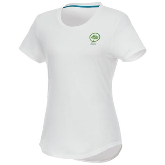 T-shirt Jade återvunnen GRS Dam med tryck Vit