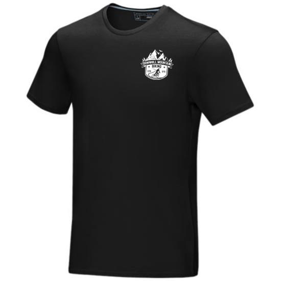 T-Shirt Azurite GOTS ekologisk med tryck Svart