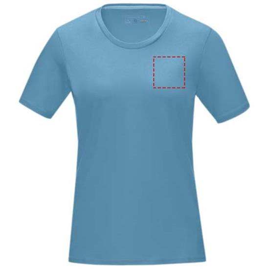 T-Shirt Azurite GOTS ekologisk Dam med tryck Blå