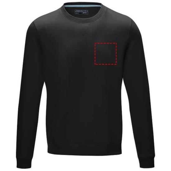 Sweatshirt Jasper GOTS ekologiska med tryck Svart