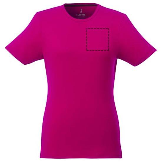 T-shirt Balfour GOTS ekologisk Dam med tryck Rosa