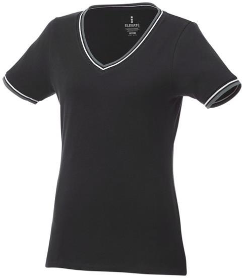 T-shirt Elbert Dam med tryck Svart/Grå