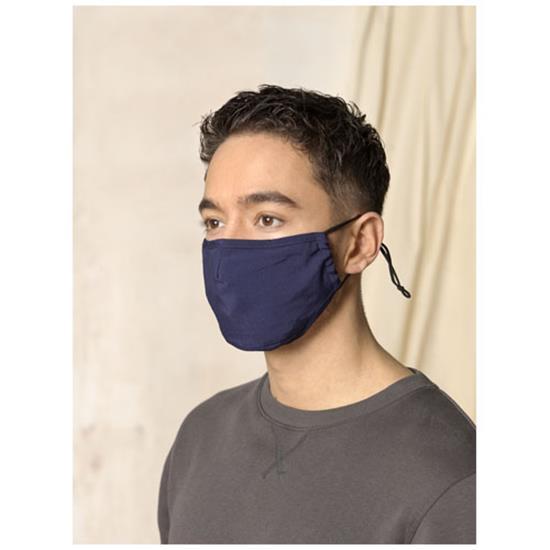 Ansiktsmask Laurel GRS återvunnen med tryck Svart