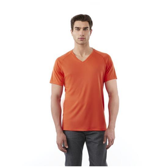 T-shirt Amery V med tryck Svart