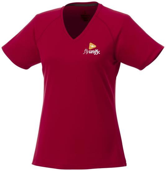 T-shirt Amery V Dam med tryck Röd