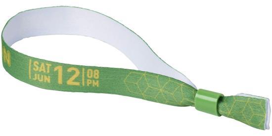 Festivalband med plastspänne, tryck en sida