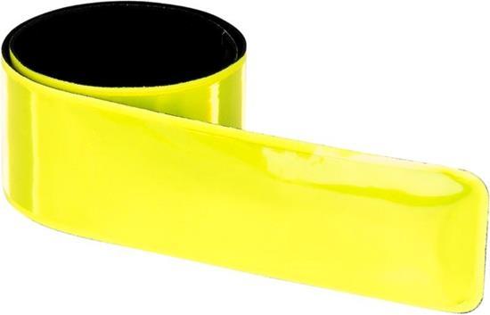 Reflexband billigt 30x440mm med tryck Gul
