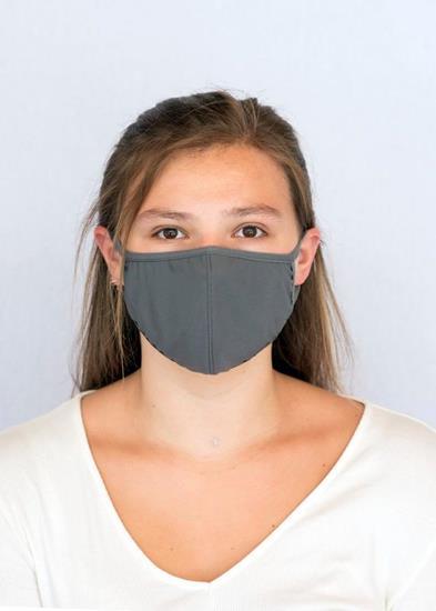 Ansiktsmask Layton med tryck Mörkgrå