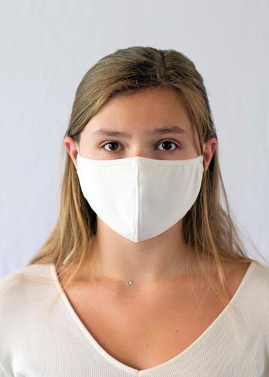 Ansiktsmask Clover med tryck Vit