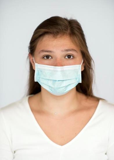 Ansiktsmask Moore typ IIR med tryck Vit