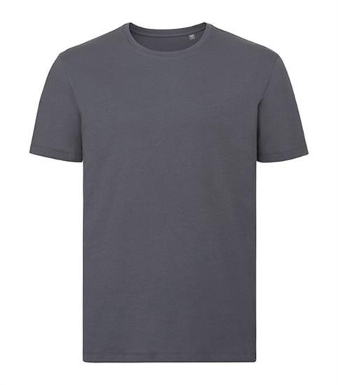 T-shirt Ekologisk Pure Organic med tryck Grå