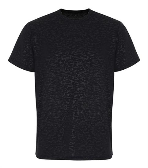 Tränings T-shirt TriDri® Burn Out med tryck Svart