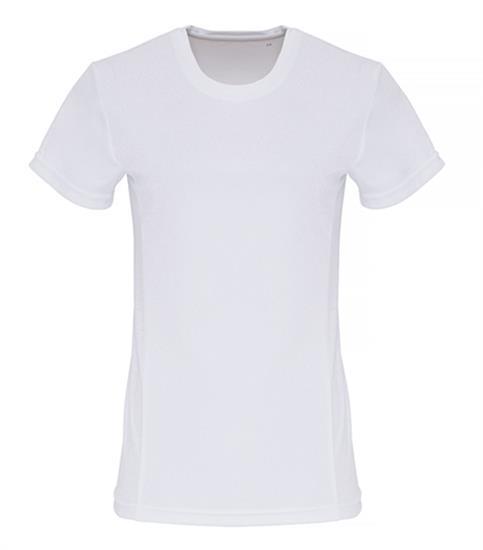 Tränings T-shirt TriDri Embossed Dam med tryck Vit