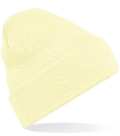 Mössa Knitted Hat med tryck Lime