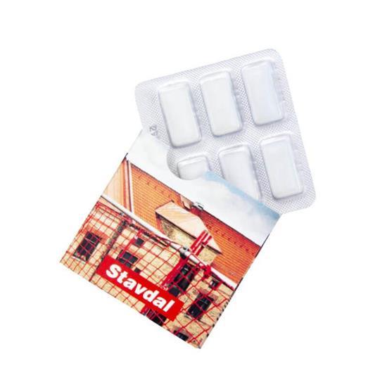 Tuggummi 6-pack med tryck Vit