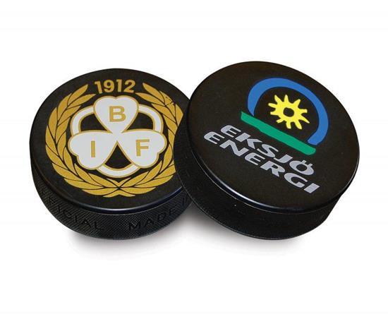 Hockey puck Officiell med tryck Svart