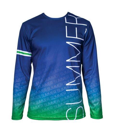 Långärmad T-shirt egen design med tryck Vit