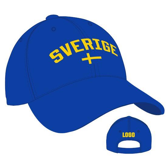 Sverige Keps - 4012 med tryck Blå/Gul