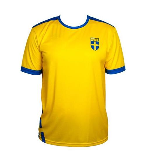 Sverige T-shirt med tryck Gul/Blå
