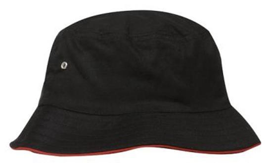 Hatt - 4223 Borstad Sportswill med tryck Svart/Röd