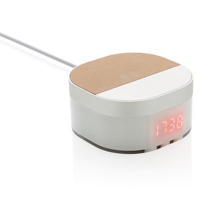 Bild på Digital klocka Aria med trådlös laddning 5W