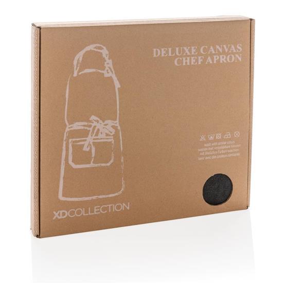 Förkläde Canvas Deluxe med tryck Svart