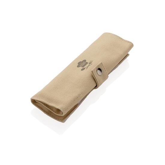 Bestick set Återanvändningsbart ECO bambu med tryck Vit