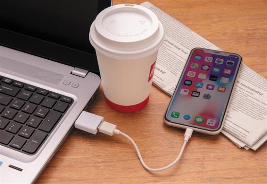 USB dataskydd med tryck Vit