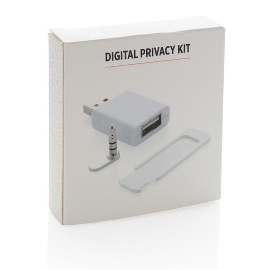 Digitalt integritetsset med tryck Vit