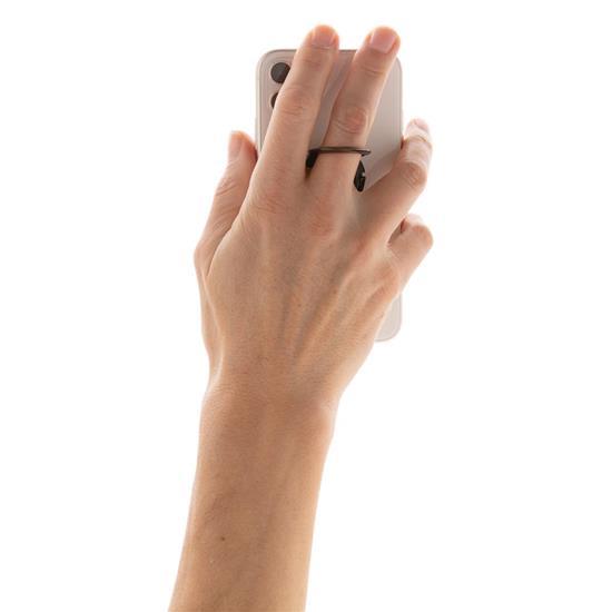 Mobilhållare för bilden med bärögla med tryck Svart