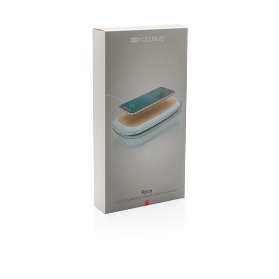 Steriliseringsbox Rena UV-C med 5W trådlös laddare med tryck Grå