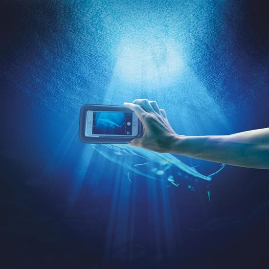 IPX8 vattentätt flytande mobilfodral med tryck Svart