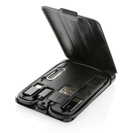 Reseladdare Multifunktionell 5W med trådlös laddning med tryck Svart