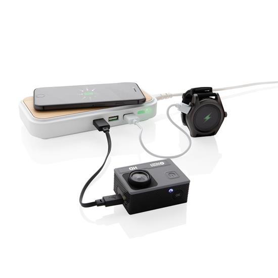 Trådlös laddare Bambu 5W med 3st USB portar
