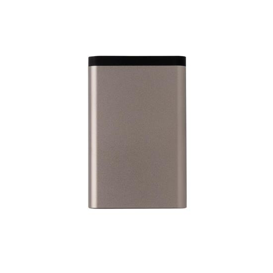 Powerbank Pocket 10.000 mAh med tryck Ljusbrun