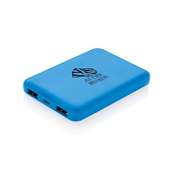 Powerbank 5000 mAh med tryck Blå