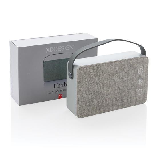 Högtalare Fhab 3W Bluetooth® med tryck Grå