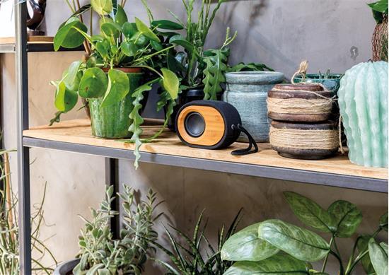 Högtalare Bamboo X 5W Bluetooth® med tryck Svart