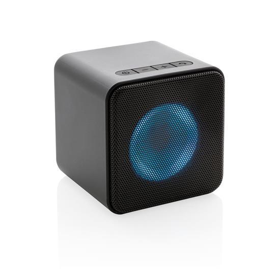 Högtalare Party 3W Bluetooth® med LED-ljus med tryck Svart
