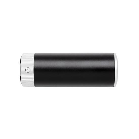 Högtalare & Powerbank 2200 mHh med lysande logga med tryck Svart