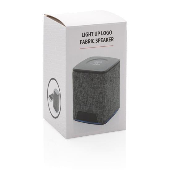 Högtalare Light Up 3W med egen lysande logga med tryck Grå