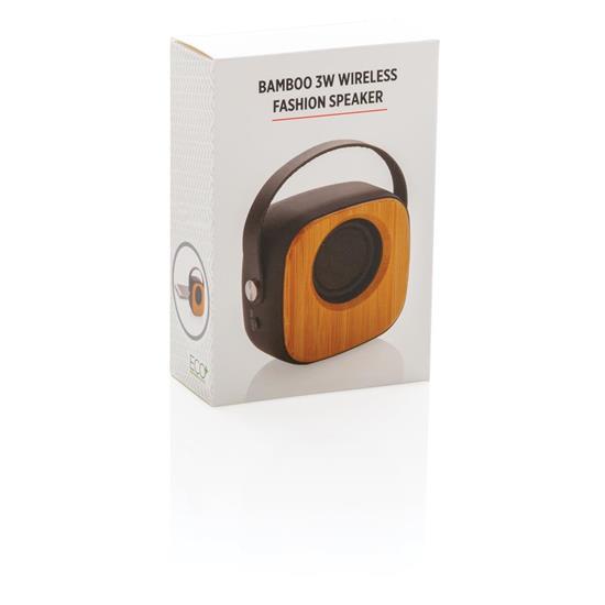Högtalare Bambu 3W Bluetooth® med tryck Svart